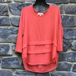 Michael Kors Orange Tunic Top